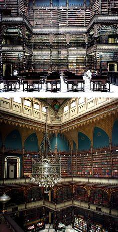 One of the most beautiful libraries in the world! - Real Gabinete Portugues De Leitura, Rio De Janeiro, Brazil