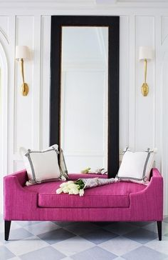 glam radiant orchid settee