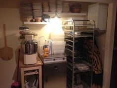 """""""The Hitchin Bakehouse set up."""" —Hitchin Bakehouse ([@]hitchinbread) is a home-based micro-bakery in Hitchin, Hertfordshire, UK. Photo pinned with permission of Nick Boggon, co-owner of Hitchin Bakehouse."""
