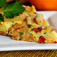 al fresco Roasted Pepper and Asiago Chicken Sausage Frittata Allrecipes.com