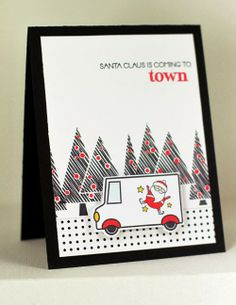 Santa's Delivery Truck Card by Erin Lincoln for Papertrey Ink (February 2014)