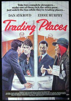 eddie murphy movie posters | TRADING PLACES 1983 Dan Aykroyd Eddie Murphy 1sht Movie poster ...