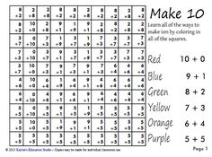 Make 10 hidden picture puzzle for 1st grade.  Free