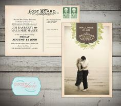 Save the Date postcards..CUTE:)