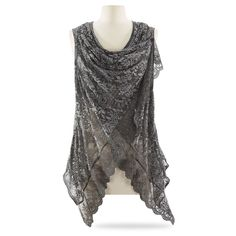 Vintage Lace Top - New Age, Spiritual Gifts, Yoga, Wicca, Gothic, Reiki, Celtic, Crystal, Tarot at Pyramid Collection