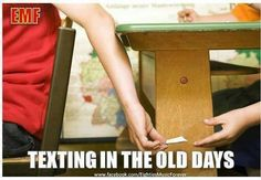 Texting in the old days wow we all did this...