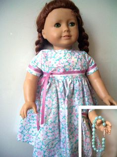 Doll clothes Dress and necklace for American Girl by KNITnPLAY, $17.99