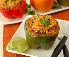 Mexican Stuffed Peppers (Grape-Nuts?!? Interesting...)