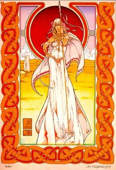 celtic art, tripl goddess, ireland, dragons, goddesses, irish art, celtic magic, celtic summer, celtic goddess