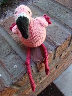 Free Knit Flamingo Pattern