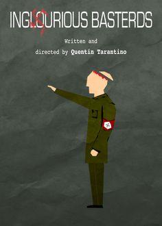 Inglourious Bastards minimalist movie poster