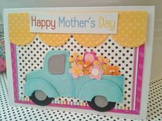 Mothers Day Card Handmade  Antique Turquoise by chucklesandcharms, $5.50