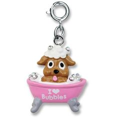 Charmit Pup In Tub Charm- $5.00