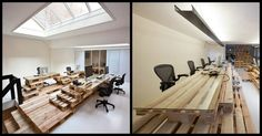 Could you use pallets to fit out an entire office? Brandbase Advertising did!  http://theownerbuildernetwork.co/toan