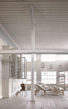 dreamy white loft space