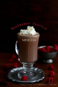Raspberry Truffle Mochas - Low Carb and Gluten-Free