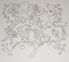 Embroidery Pattern #tree