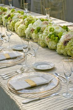 beautiful floral table runner