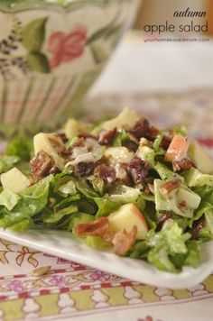 Autumn Apple Salad. Perfect for #fall and late #summer
