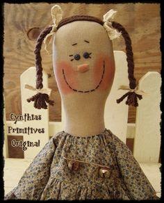 Free+Primitive+Doll+Patterns | Primitive Country Rag Doll Prim Doll Raggedy