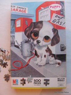 gig pity puppy | Vintage Milton Bradley Puzzle Puppy Series 48956 by BoomerangRedux