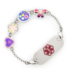 Willy Nilly Medical ID Bracelet, can change out bracelet design.