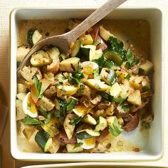 Extra veggies in your potato salad makes this recipe stand out: http://www.bhg.com/recipes/from-better-homes-and-gardens/august-2014-recipes/?socsrc=bhgpin082014zucchinipotatosalad&page=21