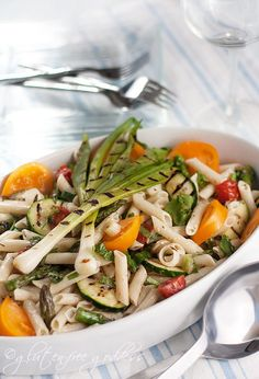 Karina's Grilled Vegetable Pasta Salad (gluten-free with brown rice penne)