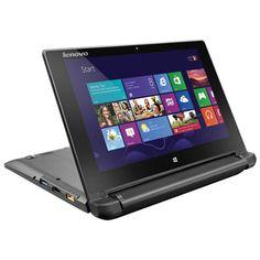 """Lenovo Flex 10.1"""" Touchscreen Laptop - flips 300 degrees! Easy to slip into your backpack."""