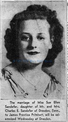Sue Ellen Sandefer, Dresden Tennessee.