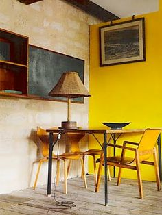 Dining room. #Yellow #ColorIntensity