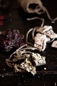 Chocolate Bark - Three Ways at Chasing Delicious - Peppermint Bark, Dried Cranberry & Dark Chocolate Bark, Pistachio & Salt Bark