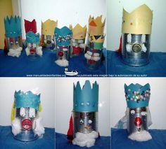 Reyes Magos con latas recicladas: http://www.manualidadesinfantiles.org/reyes-magos-con-latas-recicladas/