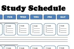 FREE printable ACT/SAT Personal Study Schedule, from www.test-prep-pro.com