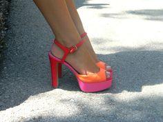 cute neon heels!