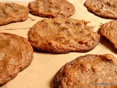 Flourless Banana Almond (or Peanut) Butter Chocolate Chip Cookies (Gluten Free, Dairy Free, Egg Free, Vegan, Soy Free)    Amie's note:  I have not looked this over yet!