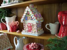 Such detail! Yummy Gingerbread House made of clay dough - it will fool you!  H200692  http://qvc.co/ShopValerie