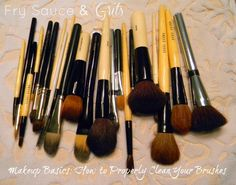 Fry Sauce & Grits: Makeup Basics: How to properly clean your makeup brushes