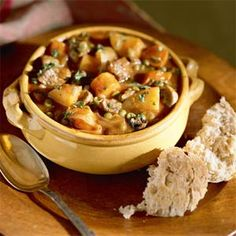 Hearty Vegetable Stew Seasoned with Beef | MyRecipes.com