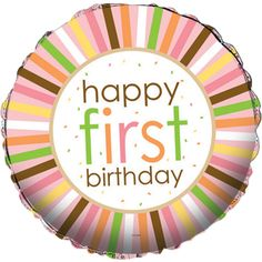 1st Birthday Zoo Party Balloon
