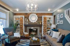 Amazing Rustic Fireplace! From HGTV's Renovation Raiders, premieres May 30, 2013 9/8c.  http://www.hgtv.com/decorating-basics/renovation-raiders-stealth-remodeling/pictures/page-21.html?soc=pinterest