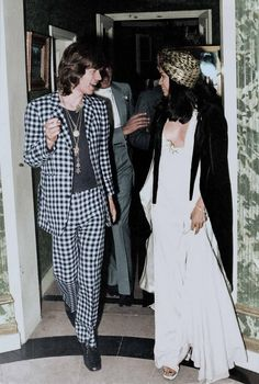Mick Jagger and Bian