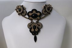 Soutache Choker Necklace  Milady by BeadsRainbow on Etsy, $259.00
