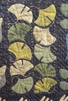 appliqued Gingko leaves