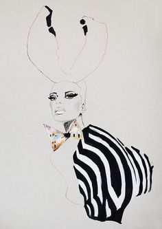 Fashion illustration acrylic painting girl with by ARTbyLola, $30.00    ...BTW,Please Check this out:  http://artcaffeine.imobileappsys.com