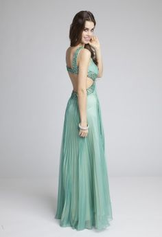 Prom Dresses 2013 - Chiffon Pleated Prom Dress with Cut Out Side from Camille La Vie and Group USA