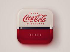 graphic, machin icon, 50s coke, andrew baygulov, coke machin