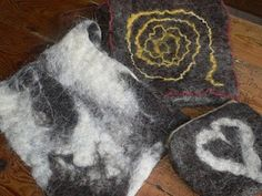 felted by hand