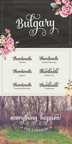 Bulgary Typeface (25% Off) Artimasa Creative Market