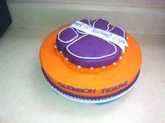 cake idea, clemson cake